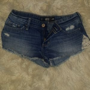 Brand new hollister jean shorts